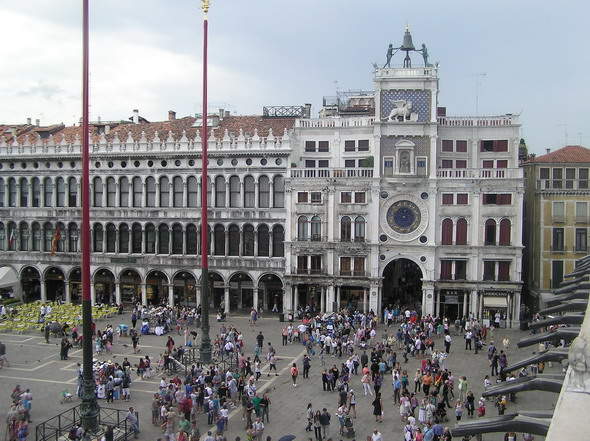 Площадб Сан Марко. Часовая башня