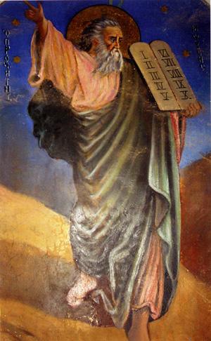 Моисей на горе Синай. Фото с сайта klikovo.ru