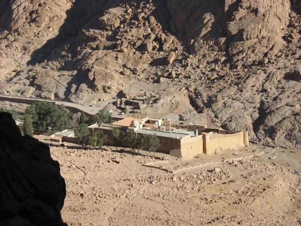 Вид на монастырь Св. Екатерины