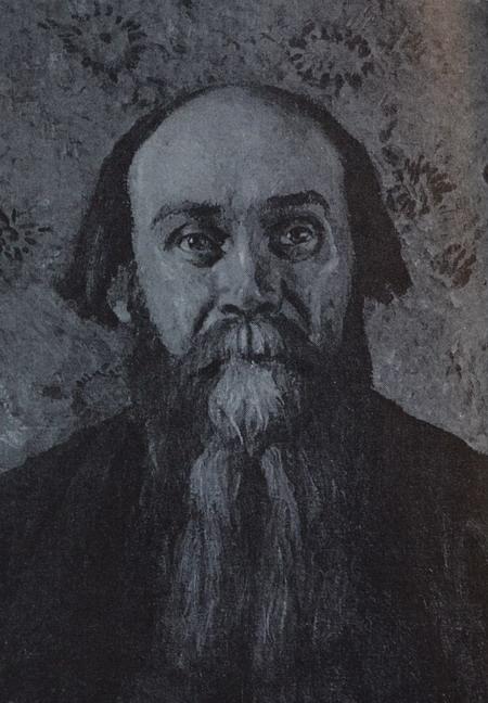 Н. Клюев. Портрет И. Грабаря